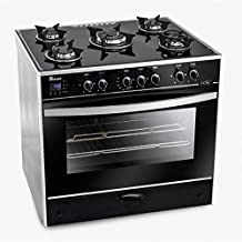 Unionaire C6080GS-AC-383-IDSH-S i-Chef Gas Cooker With Fan - 5 Burners