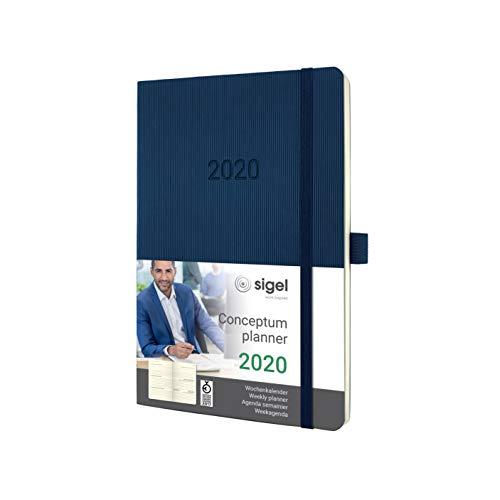 SIGEL C2032 Wochenkalender 2020, ca. A5, dunkelblau, Softcover Conceptum - weitere Modelle