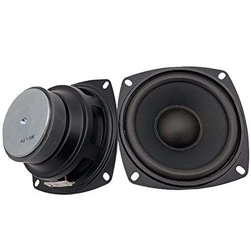 Wnuanjun 1 stück 4inch volle Frequenz HiFi Audio Lautsprecher 4Ohm15w mittelhoher Bass Subwoofer Lautsprecher für Heimkino DIY Woofer-Lautsprecher