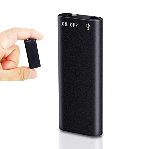FREDI HD PLUS Spy Voice Recorder 4K Voice Activated Recorder Portable Hidden Audio Recording Device with Long Battery Backup Inbuilt 8GB Memory for Lectures Meetings Home Office Hidden Mini Recorder