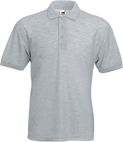 "Fruit of the Loom kurzärmliges Polo Shirt für Herren, Stil ""Pocket Pique"" Gr. L, Heather"