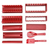 Kit De Fabricación De Sushi De Bricolaje Fabricante De Sushi Japonés De Plástico Molde De Rollo De Arroz Accesorio De Cocina, Rojo