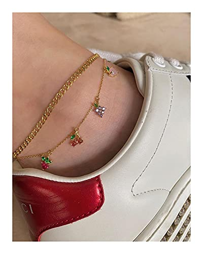 HETHYAN Tobillera de cadena de verano, estilo bohemio, para pies femeninos, para decoración de pies de playa, accesorios de sandalias (color de metal: estilo R)