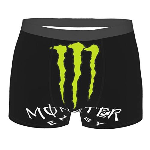 Monster E-nergy Men's Boxer Briefs Boxer Briefs Leggings Performance Sports Briefs Suitable for Men Youth XL Black