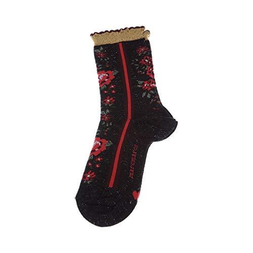Marcmarcs Socke mittelhoch - 1 paar - Flachnaht - Mit Rüschen - ohne Frotte - Bunte - Fine - Coton - Multicolore - Eva cotton - 35/38