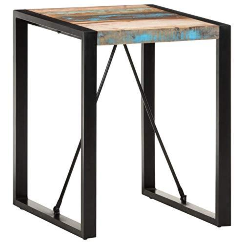 vidaXL Esstisch Industriestil Vintage-Charme Küchentisch Bistrotisch Esszimmertisch Speisetisch Tisch 60x60x75cm Recyceltes Massivholz