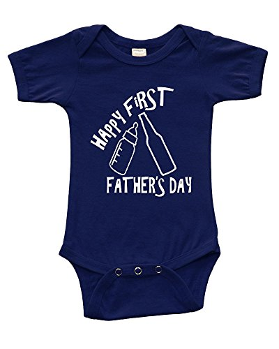 Short Sleeve Onesie Happy First Father's Day