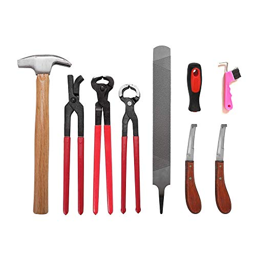 Pezuña de herrador de caballo Kit de herramientas de recorte, Cortadora de pinzas para pezuñas de caballos profesionales, tijeras de metal para cortar caballos, cuidado de pezuñas para caballos