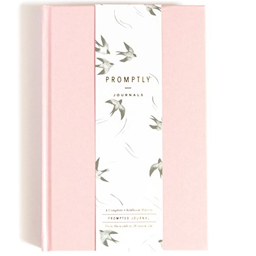 Promptly Journals - Childhood History Journal - Baby Books First Year and Pregnancy Journal - Baby Memory Book from Pregnancy Thru Age 18 (Blush Pink)