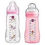 MAM Biberones Easy Active Baby Bottle Set, 270 ml plus 330 ml GirL