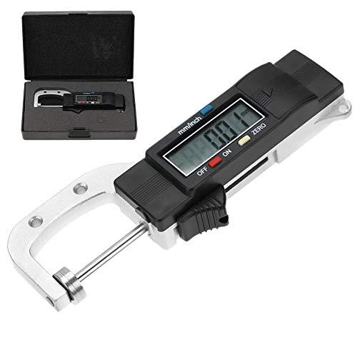 【Especial de Año Nuevo 2021】Calibrador de calibrador electrónico, AL1246A Medidor de espesor digital Rango 0-25 mm Tipo horizontal Herramienta de medición de pantalla LCD grande