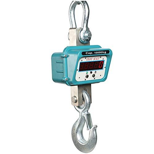RSTO Dinamometro Elettronico 5000kg / 10000kg Digitale Bilancia Gancio Dell\'esposizione, Industriale-Vista Diretta Sollevamento Bilancia Elettronica Gru (Size : 5000kg/10000lb)