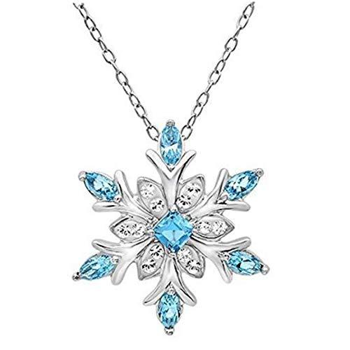 Amoyer Collar del Copo De Nieve Collar De Cristal Colgante Cuello De...