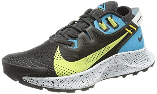 Nike W Pegasus Trail 2, Scarpe da Corsa Donna, off Noir/Limelight-Laser Blue-Dk Sulfur, 38 EU