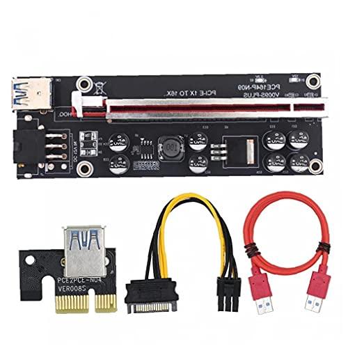 GGOOD PCI-E 1x a 16x Extensor de Tarjetas de Elevador con Cable...