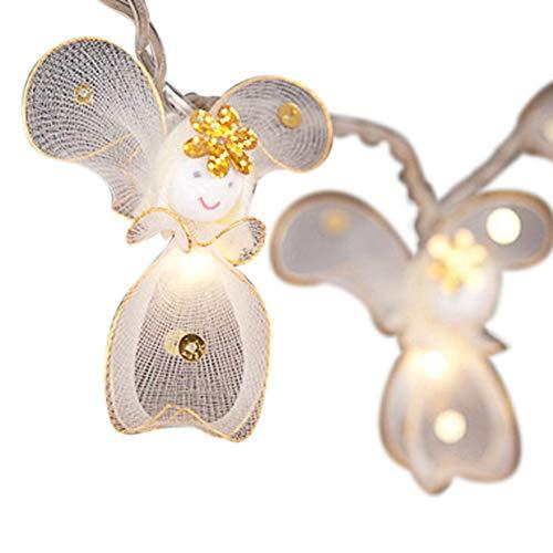 Guirnalda de luces Blaze On Princesa hada, White & Gold Fairies, 20 Lamps - 5 Metre Long