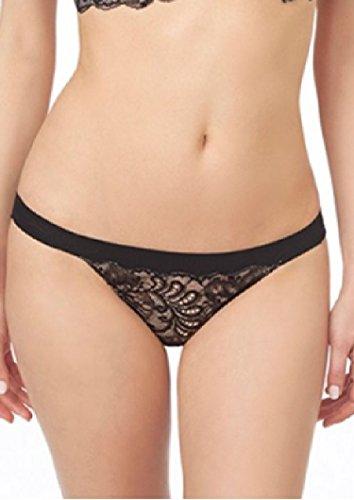 Le Mystere Damen Sophia Spitze Bikini Panty - Schwarz - X-Large
