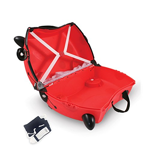Trunki Trolley Kinderkoffer, Handgepäck für Kinder: Harley Marienkäfer (Rot) - 5