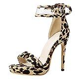 beiamina donna scarpe moda con cinturino alla caviglia sandali stiletto festa scarpe punta aperta tacco alto serata scarpe baowen numero 46 asiatico