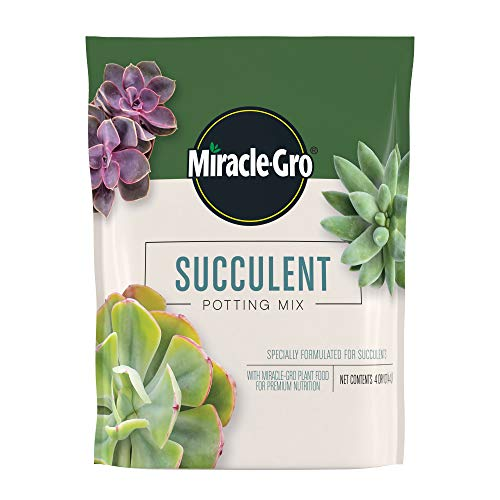Miracle-Gro Succulent Potting Mix: Fertilized Soil with Premium Nutrition for Indoor...