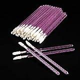 200 piezas de lápiz labial aplicador de labios desechable pincel de maquillaje pincel de labios herramienta de maquillaje - Crystal Purple red