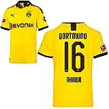 PUMA Borussia Dortmund BVB Heimtrikot 2019/20 Home Trikot Sponsor BL Logo Kinder Manuel Akanji 16 Gr 164
