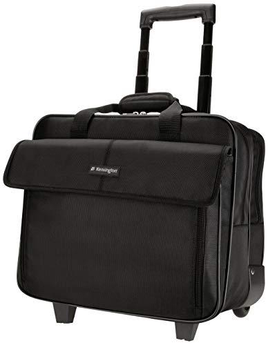 Kensington Roller Laptop Bag - Simply Portable Classic Roller Wheeled Laptop Bag for 15.6' inch laptop, notebook, MacBook, Ultrabook - Laptop roller case for men & women, ideal cabin bag (K62565EU)
