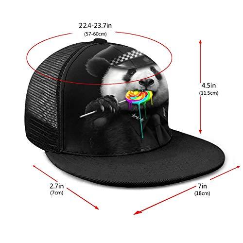 Panda American Police Lollipop - Gorra de béisbol ajustable para mujer y hombre, 6 paneles, estilo polo, unisex, color negro
