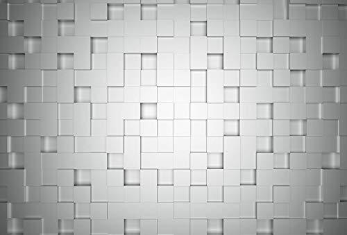 Fototapete Cubes Vliestapete 3D in weiß grau 384 x 260 cm XXL Wandtapete Wandbild 118999