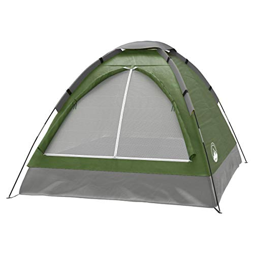 2-Person Tent, Dome Tents for Camping with Carry Bag by Wakeman Outdoors (Camping Gear for Hiking, Backpacking, and Traveling) - GREEN