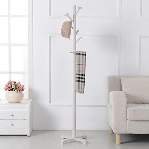 Dongyd - Perchero de madera maciza para ropa de aterrizaje para dormitorio, estante de ropa simple europeo simple y moderno (color: marrón)