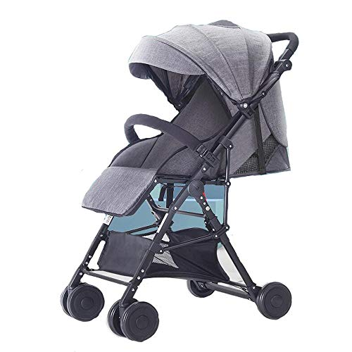 Best Price ETERLY Baby Stroller Ultra Light Can Sit Reclining Folding High Landscape Hand Push Car