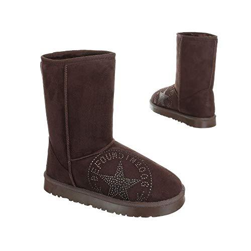 bonprix Damen Stiefel Boots mit Sternmotiv Farbe: Coffee/Braun Größe: 38