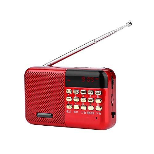 Draagbare FM-radio, Mini Stereo USB U Schijf/TF Muziek Mp3-speler FM-radio Luidspreker Met Ruisonderdrukking, 2000mAh Batterij Met Grote Capaciteit, voor Thuis/Buiten/Auto,Rood
