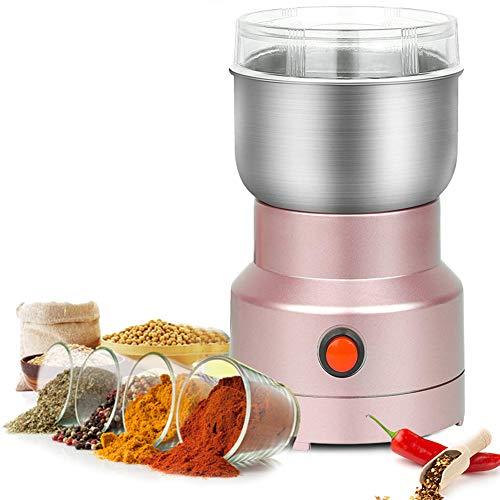 Multifunktions Smash Maschine,250W Elektrische Bohnenmühle Multifunktions-Kaffeemühle Elektrisch Kaffeemühle Mini Elektrische Getreide Getreidemühle Für Gewürzsamen Kaffeebohne (Roségold)