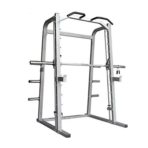 Máquina de jaula con la jaula de marco de potencia arrastrada contra LAT, bastidor de cuclillas con soporte de barra, gancho J, barra de levantamiento de pesas Equipos de aptitud física Aparato para s