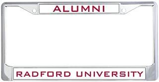 CollegeFanGear Radford Alumni Metal License Plate Frame in Chrome 'Alumni'