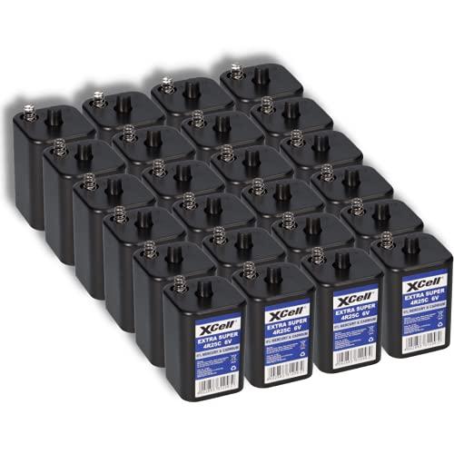 24x 6V 4R25 Batterie 9500mAh Blockbatterie Baustellenleuchte Blinklampen Handlampen Laternenbatterie AKKUman Set (24er)
