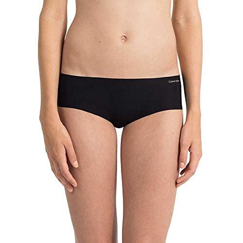 Calvin Klein High Waist Hipster-Invisibles Braguita, Negro (Black 001), M para Mujer