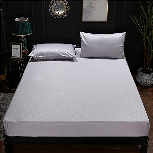JKCTOPHOME Tamaño múltiple Sábana Ajustable,Protector de colchón de sábana Impermeable de Color sólido Simple para el hogar-E_200 * 220 * 30cm,Sábana Bajera, Ajustable Elástica