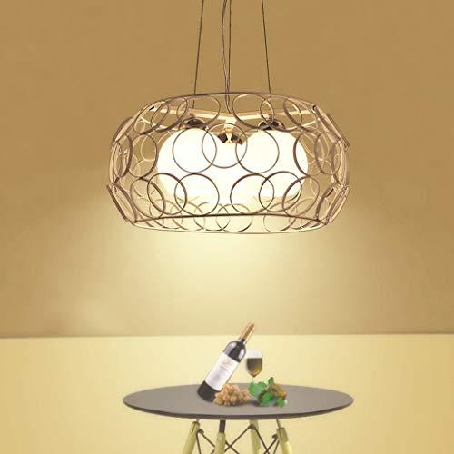 Lámpara LED Simple creativa de tres cabezas Restaurante Lámpara de techo Nordic Individual Hotel Iluminación LED Blanco Ecuación de uso de navegación bombilla