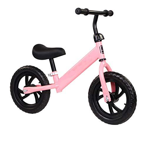 QHY Bebé Bicicleta De Equilibrio Niños Caminante Bicicleta Paseo En Juguetes Dos Ruedas Regalo para 2-6 Años Antiguo Niños Aprendizaje Caminar Carreras Corredizo Bicicleta (Color : Pink)