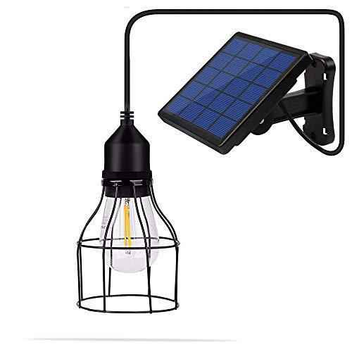 ZGNB Lámpara de Cobertizo de Araña,Iluminación Colgante Solar Exterior,Lámpara Colgante Solar,Impermeable IP65, Candelabro Solar para Jardín, Luces Blanco Cálido