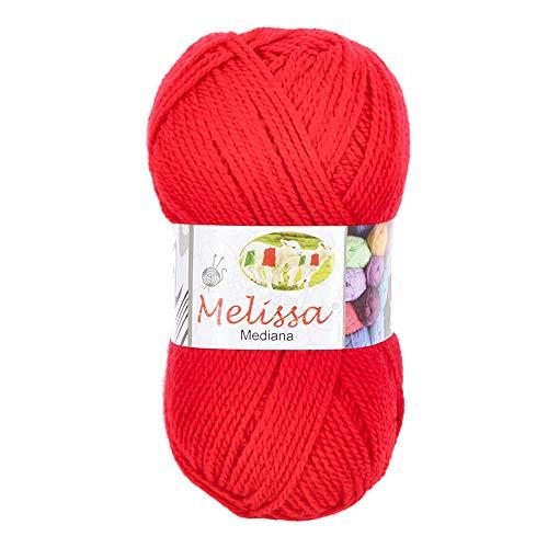 Melissa Hilo 100% Acrilico Ovillo de Lana (200m 100g * 1=50g * 2) Premium para DIY Tejer y...