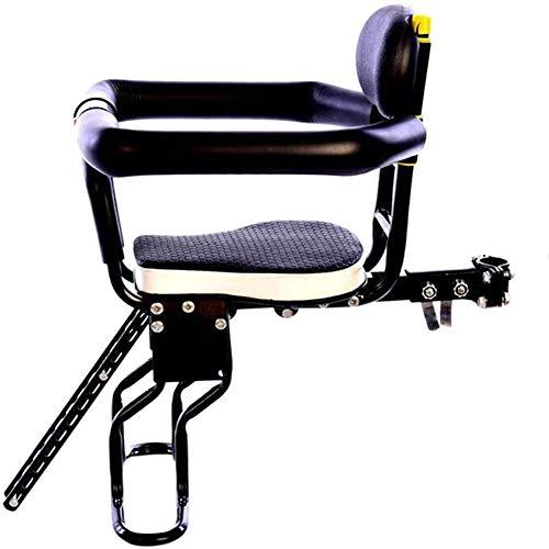Kindersitz Fahrrad Abnehmbarer Fahrrad-Vordersitz Kindersitz Pedal Mit Griff Für Kinder 2-7 Jahre,Schwarz