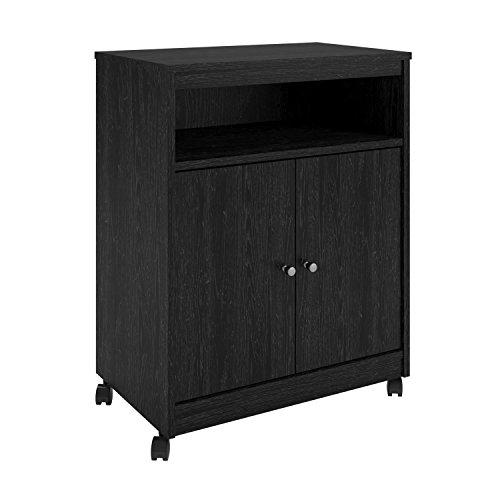 Teton Creek Microwave Cart Black Ebony Ash - Room and Joy