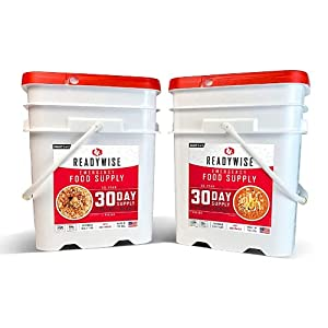 30-Day Emergency Food Supply   2 Buckets   1,800 Calories Per Day   50G Protein Per Day