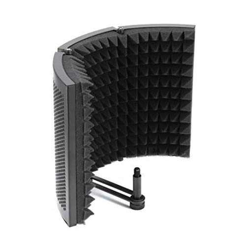 Houkiper Microphone Isolation Shield, Studio Mic Sound Absorbing Foam Reflectort 3 Foldable Panel Insulation Diffuser/Noise Deadening/Absorbing/Barrier for Audio Microphone Recording