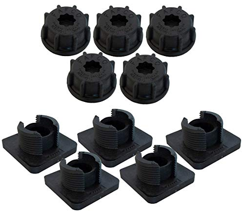 SunSaver Fafco Replacement Base and Cap for Roof Strap - 5 Pack