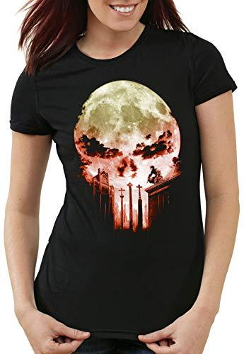 A.N.T. Vengador Ciego Camiseta para Mujer T-Shirt Dare Diablo Comic Luna Llena Calavera, Talla:2XL